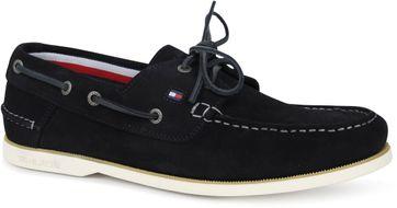 Tommy Hilfiger Suede Boat Shoe Navy
