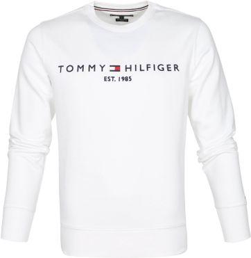 Tommy Hilfiger Sweater Logo Weiß