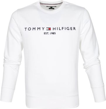 Tommy Hilfiger Sweater Logo Wit