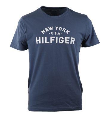Tommy Hilfiger T-shirt Blauw Print