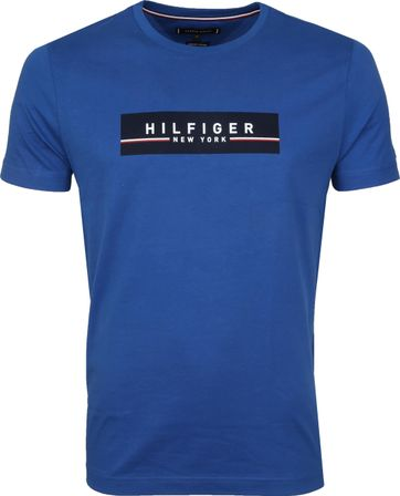 Tommy Hilfiger T-shirt Box Print Blau