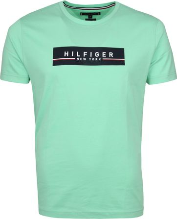 Tommy Hilfiger T-shirt Box Print Hellgrün