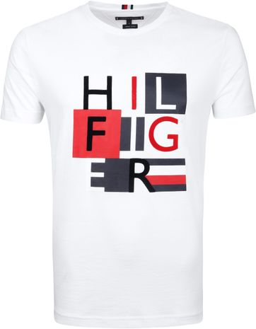 Tommy Hilfiger T-shirt Logo Big White