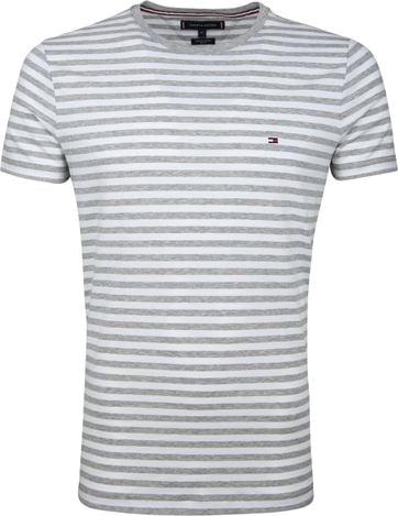 Tommy Hilfiger T-shirt Streep Lightgrey