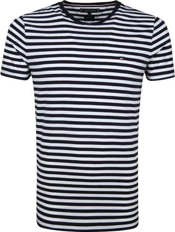 Tommy Hilfiger T-shirt Streep Navy