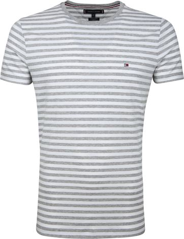 Tommy Hilfiger T-shirt Streif Hellgrau