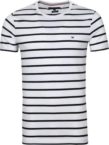 Tommy Hilfiger T-shirt Streifen Weiss