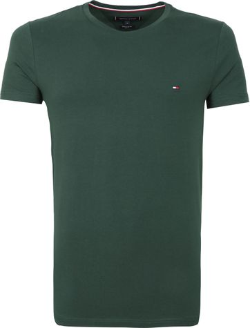 Tommy Hilfiger T-shirt Stretch Donkergroen