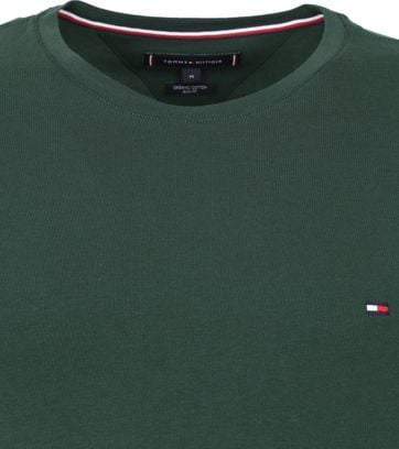 Tommy Hilfiger T Shirt Stretch Dunkelgrun