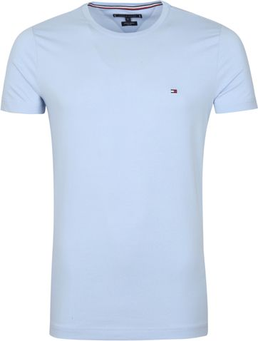 Tommy Hilfiger T Shirt Stretch Hellblau