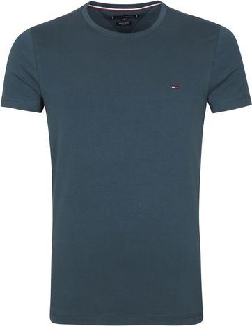 Tommy Hilfiger T Shirt Stretch Mystic Blau
