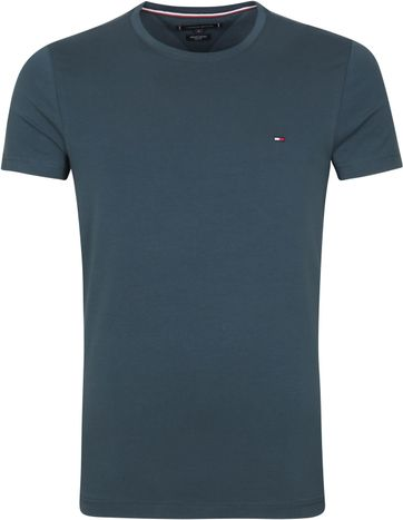 Tommy Hilfiger T Shirt Stretch Mystic Blue