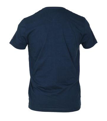 Detail Tommy Hilfiger T-shirt TH Blauw