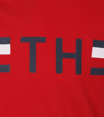 Detail Tommy Hilfiger T-shirt TH Rood