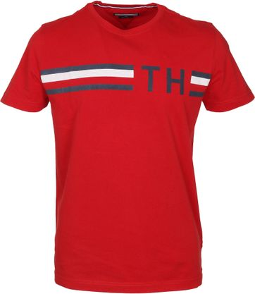 Tommy Hilfiger T-shirt TH Rot