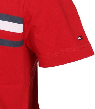Detail Tommy Hilfiger T-shirt TH Rot