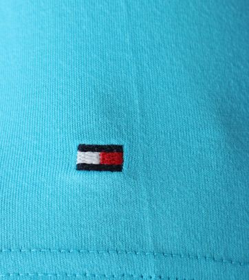 Detail Tommy Hilfiger T-shirt Turquoise Print