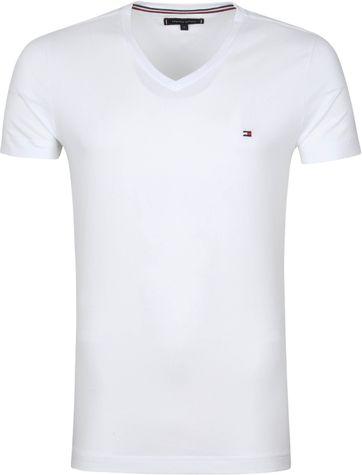 Tommy Hilfiger T Shirt V-Neck White