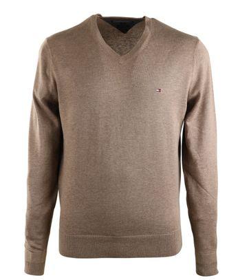 Tommy Hilfiger V-Ausschnitt Pullover Braun