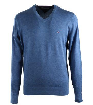 Tommy Hilfiger V-Hals Pullover Blauw