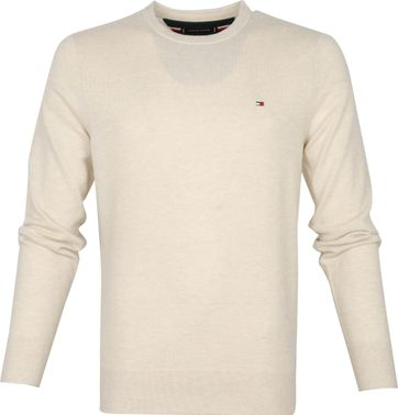 Tommy Hilfiger Wolle Pullover O-Neck Beige