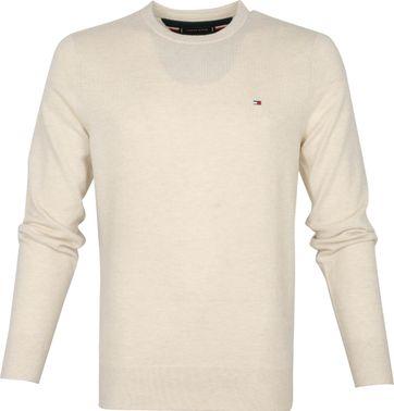 Tommy Hilfiger Wool Pullover O-Neck Beige
