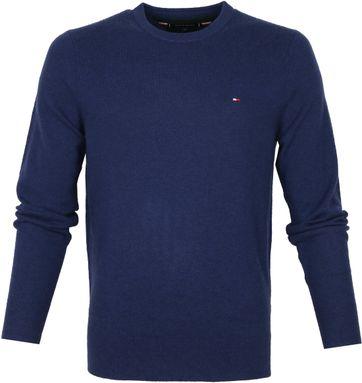 Tommy Hilfiger Wool Pullover O-Neck Indigo
