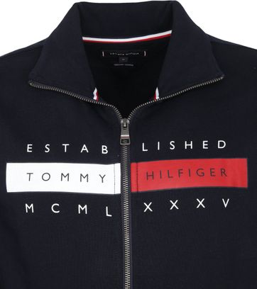Tommy Hilfiger Zip Cardigan Global Navy
