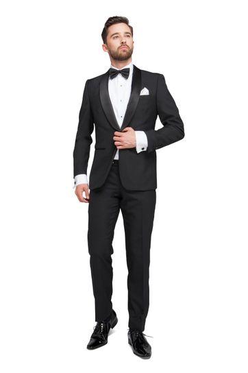 Tuxedo Suit Wool Blend