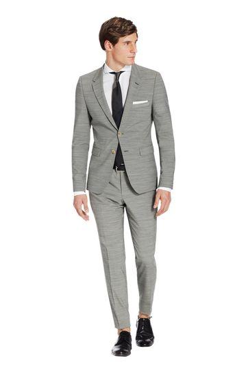 Van Gils Anzug Grau Streifen Salvador