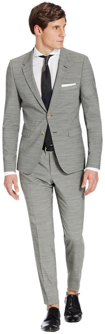 Van Gils Suit Grey Striped Salvador