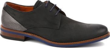 Van Lier Dress Shoes Nubuck Combi Black