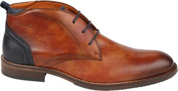 Van Lier Dress Shoes Sebastiao Cognac Blue