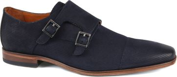 Van Lier Shoe Double Monkstrap Dark Blue