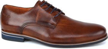 Van Lier Shoes Cognac Brown Leather