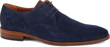 Van Lier Shoes Suede Dark blue