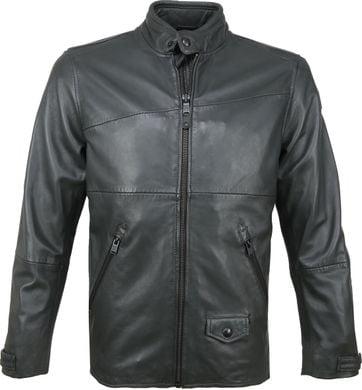 Vanguard Bikebolt Leather Jacket Ebony