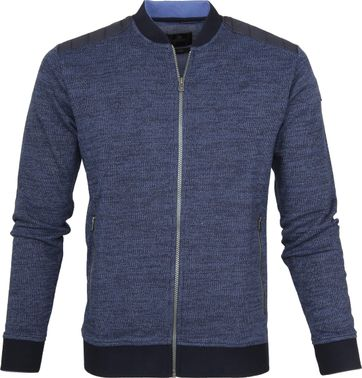 Vanguard Bomber Zipper Multigrain Navy