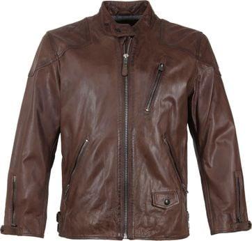Vanguard Brakeride Leather Jacket Brown