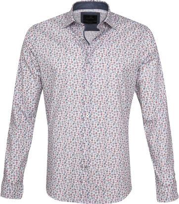 Vanguard Casual Overhemd Print Rood
