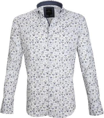 Vanguard Freizeithemd Print Weiß
