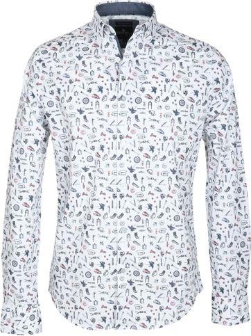 Vanguard Freizeithemd Weiß Print