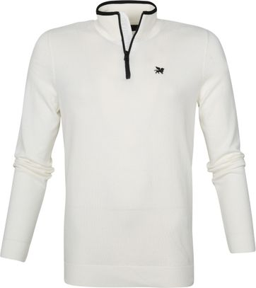 Vanguard Half Zip Pullover White