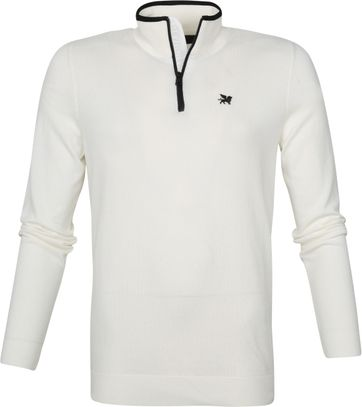 Vanguard Half Zip Trui Wit