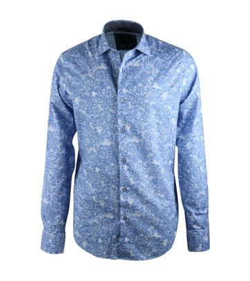Vanguard Hemd Blau Grafik