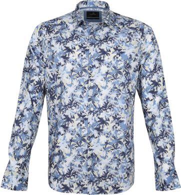 Vanguard Hemd Bloemen Patroon Donkerblauw