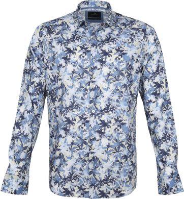 Vanguard Hemd Blumen Muster Dunkelblau