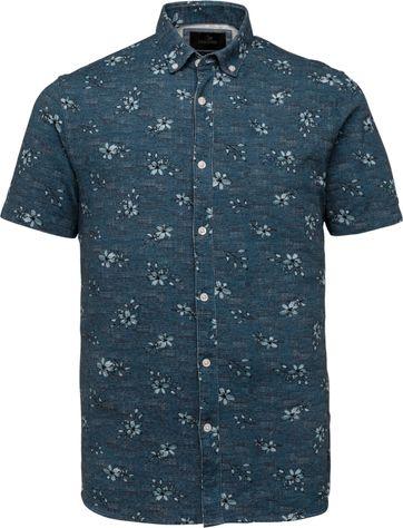 Vanguard Korte Mouw Overhemd Bloem Blauw