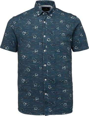 Vanguard Kurzarm Hemd Blumen Blau