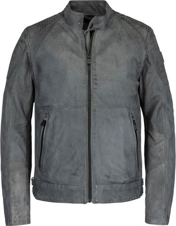 Vanguard Leather Bikebolt 2.0 Jacket Dark Grey